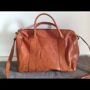 Madewell leather shoulder bag purse chestnut brown